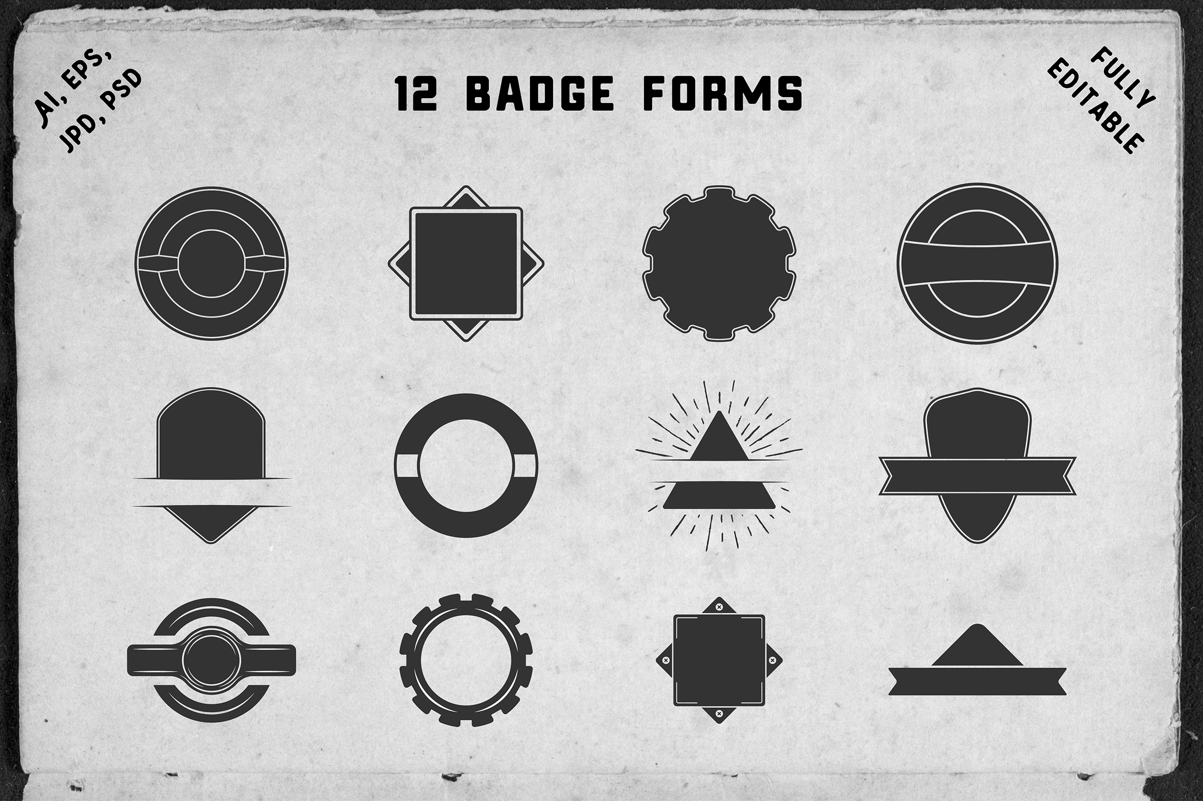 12 vintage boxing badges and forms example image 8