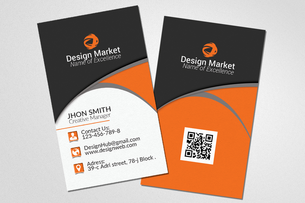 Vertical Business Cards Templates example image 2