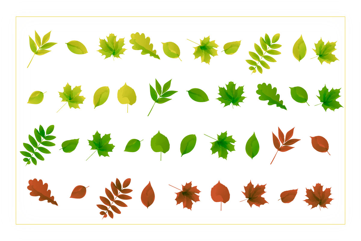Autumn watercolor style vector collection. example image 3