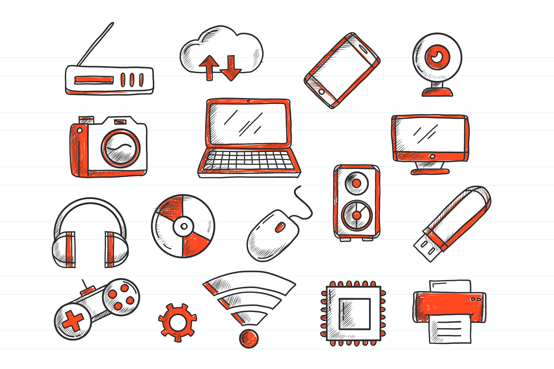 Technology Doodles example image 1