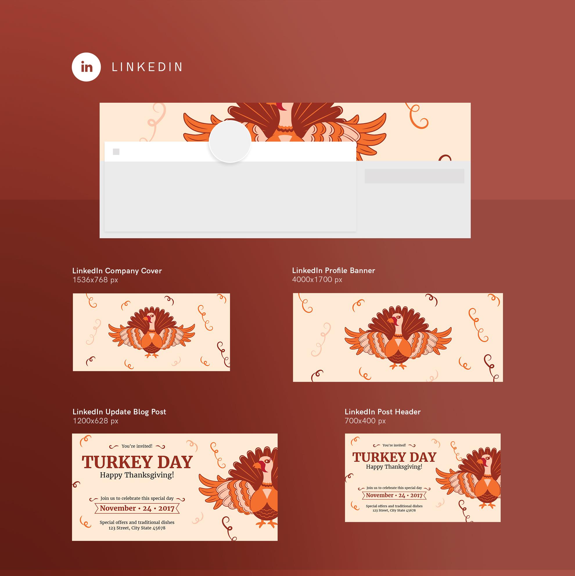 Thanksgiving Celebration Design Templates Bundle example image 12