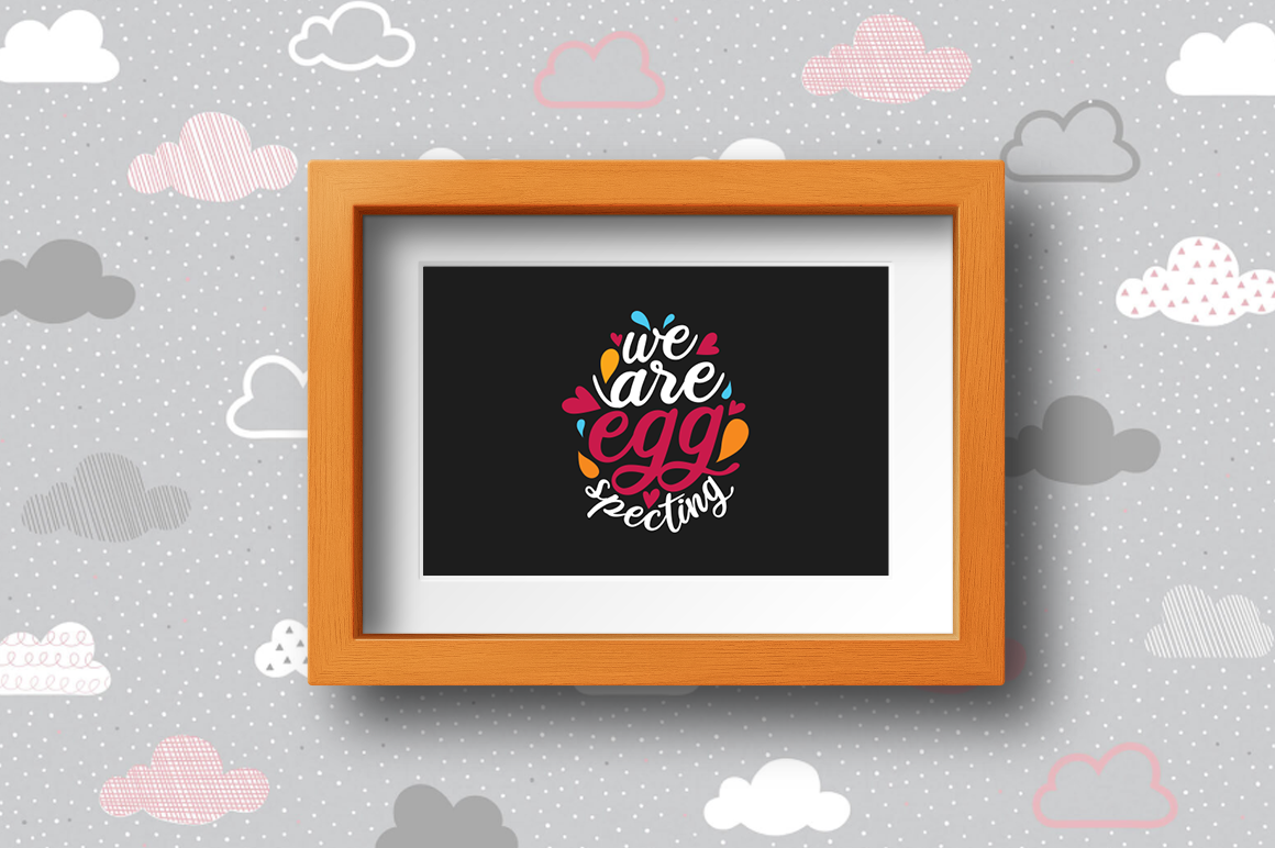 Pregnancy Announcement SVG Cut Files - We are eggspecting example image 2
