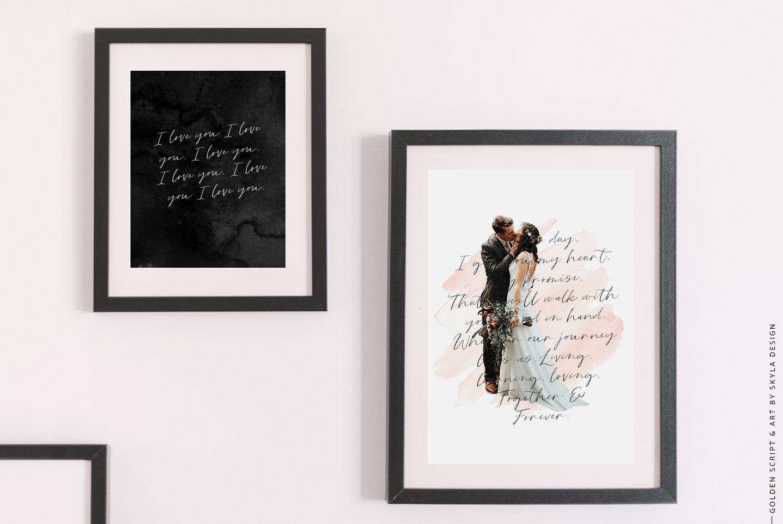 Golden, a romantic wedding script font example image 8