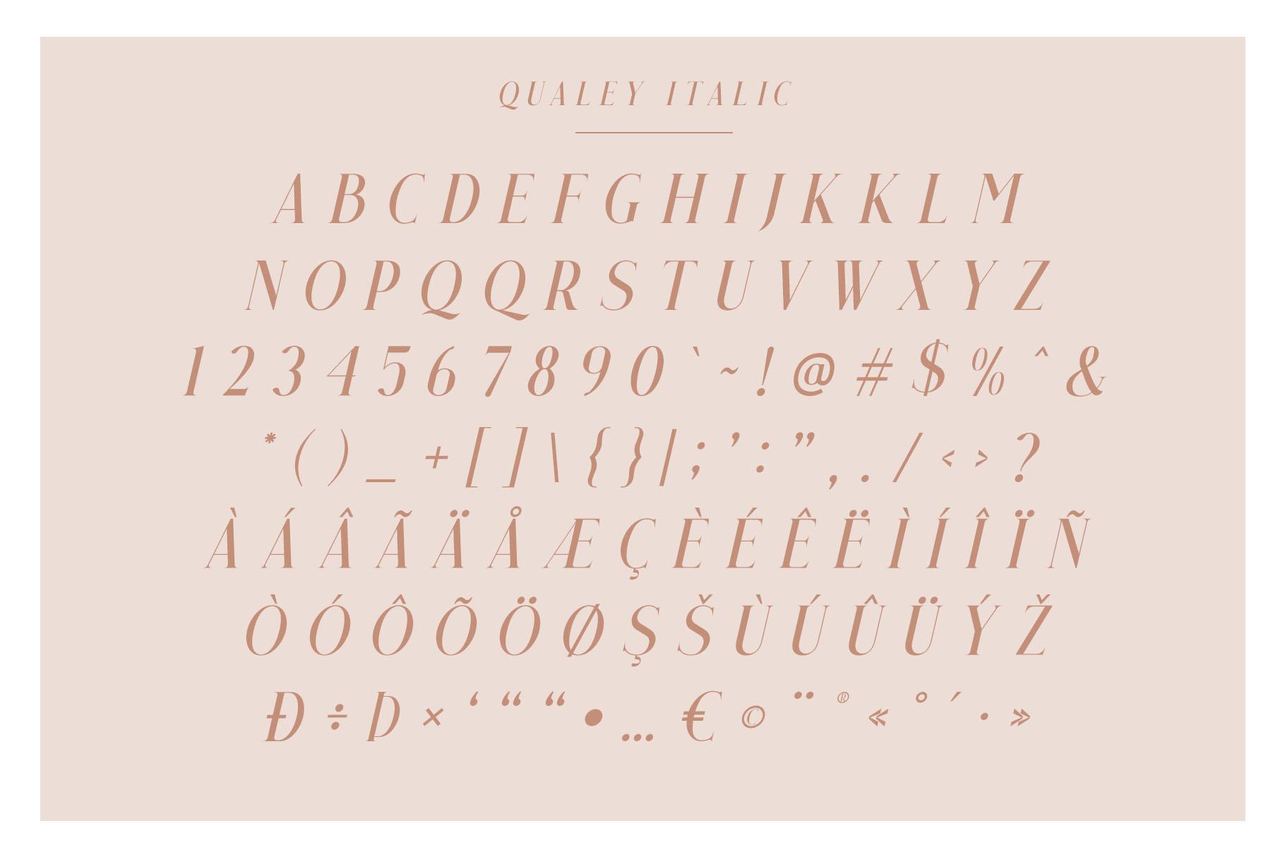 Qualey - Elegant Serif Font example image 9