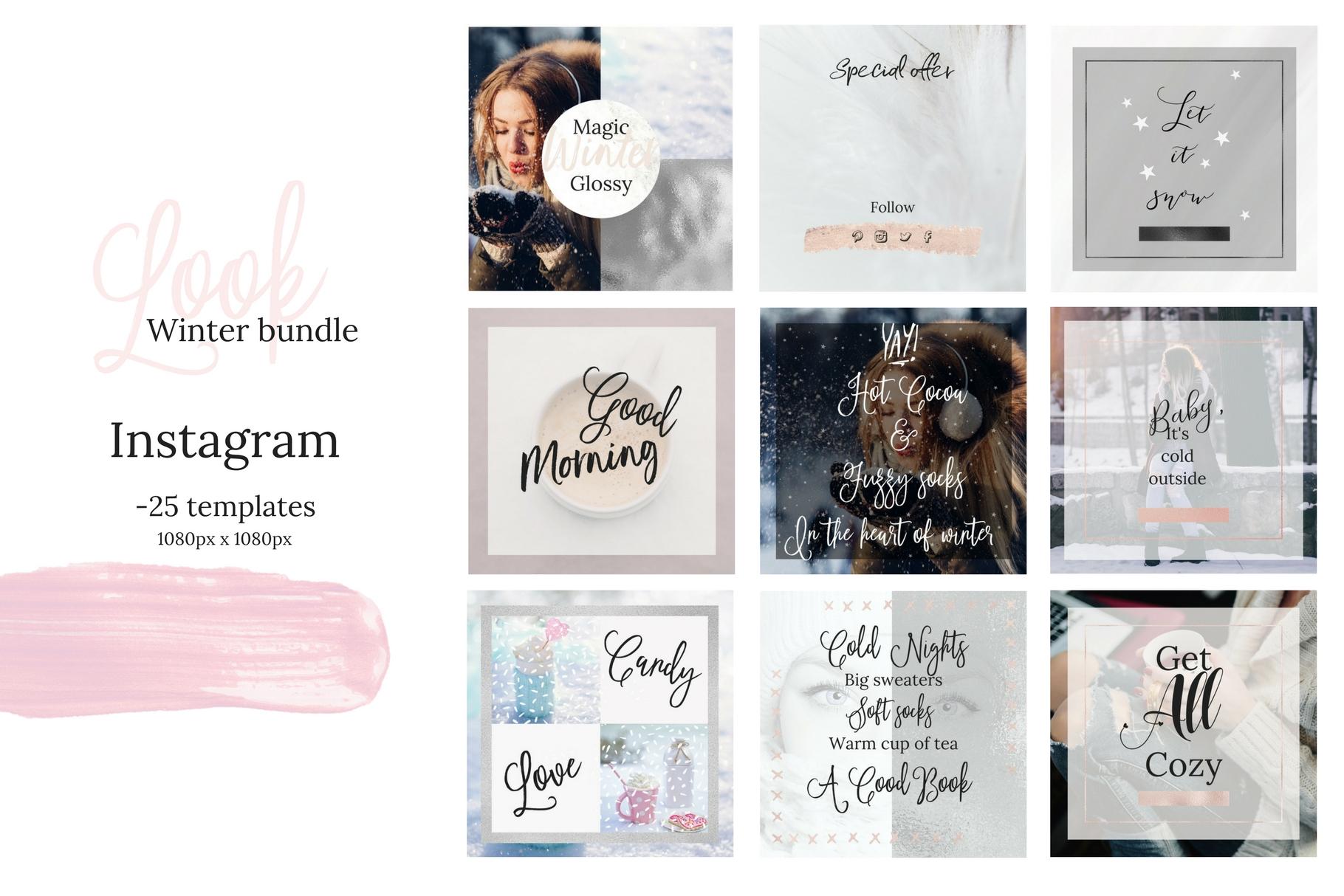 Instagram winter bundle example image 8