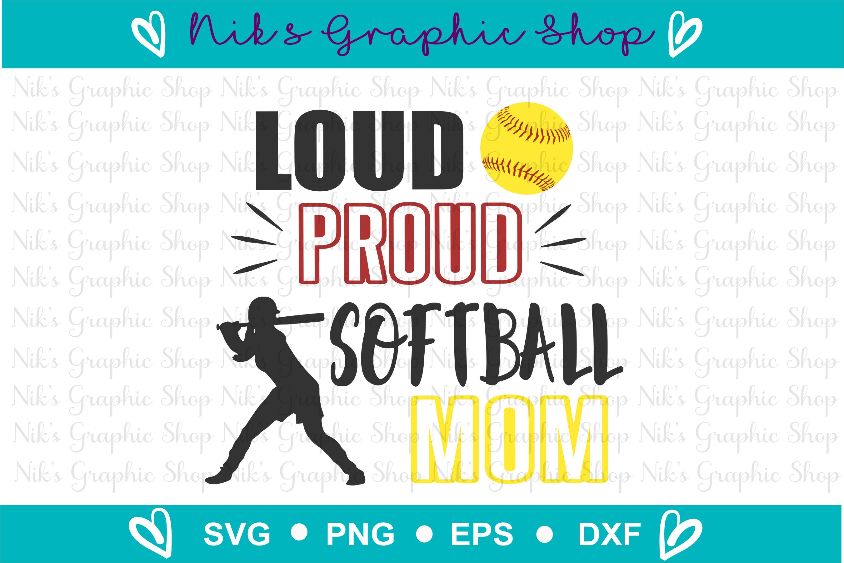 Loud and Proud Mom Svg Bundle, Football, Soccer, Baseball example image 8