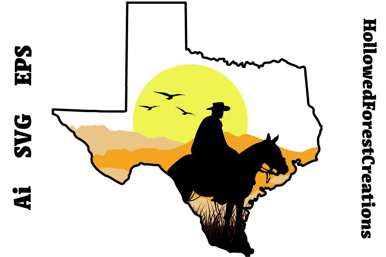 Texas Sunset Cowboy example image 1