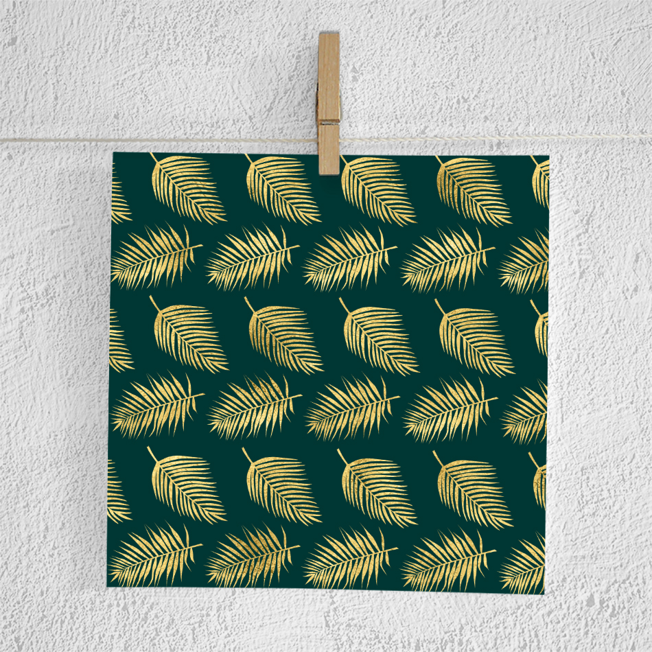 Gold Palm Leaves Backgrounds example image 3