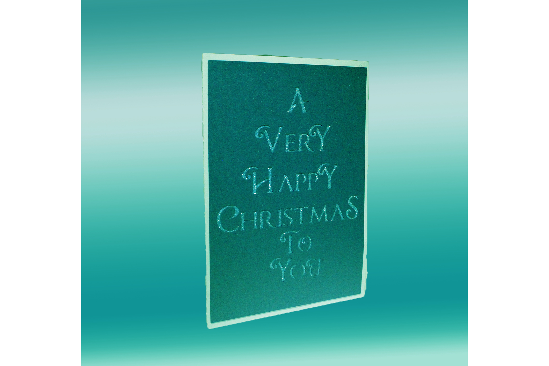 Christmas Village pop up greetings card example image 2