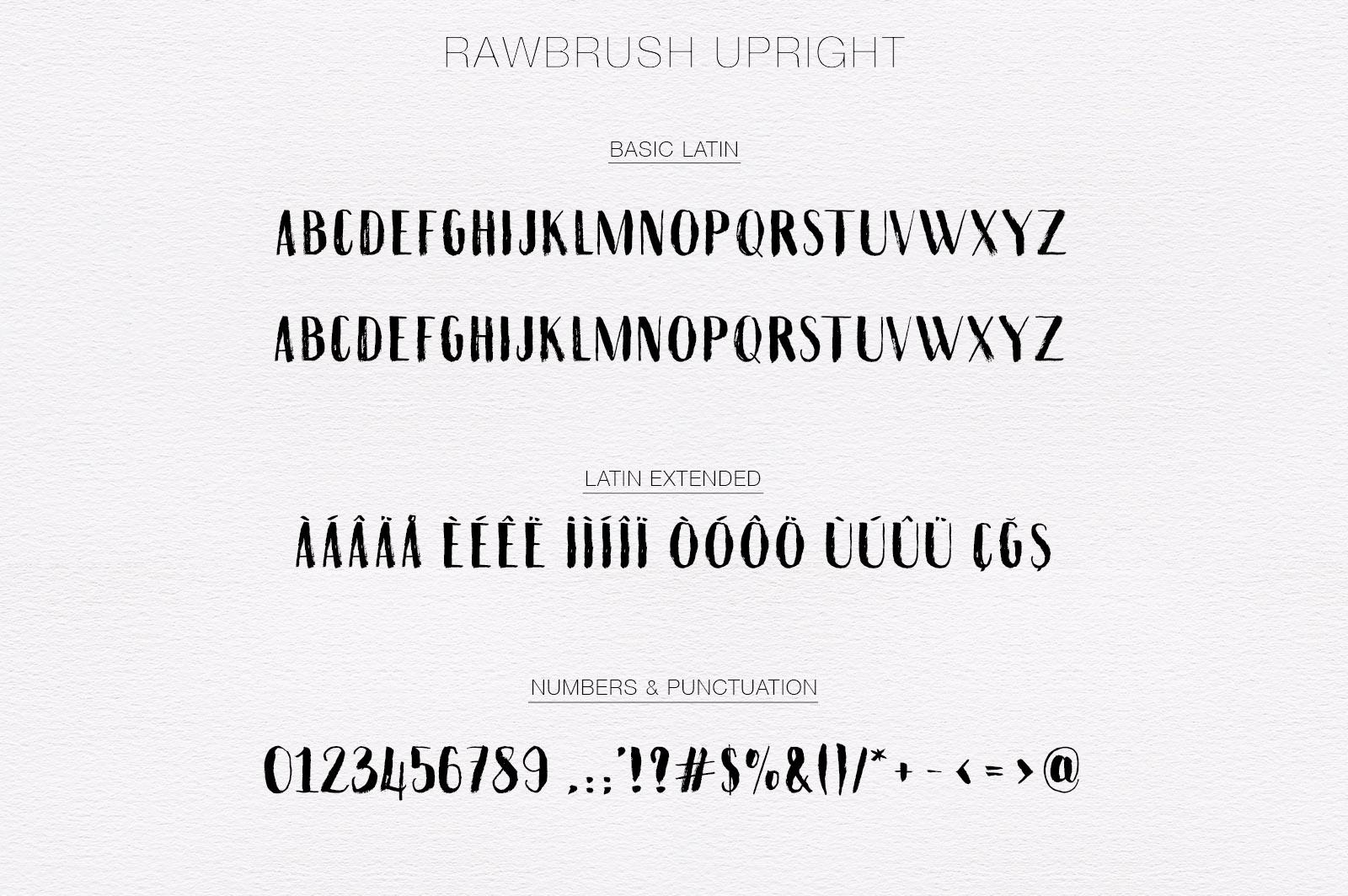 Rawbrush Font Duo example image 6