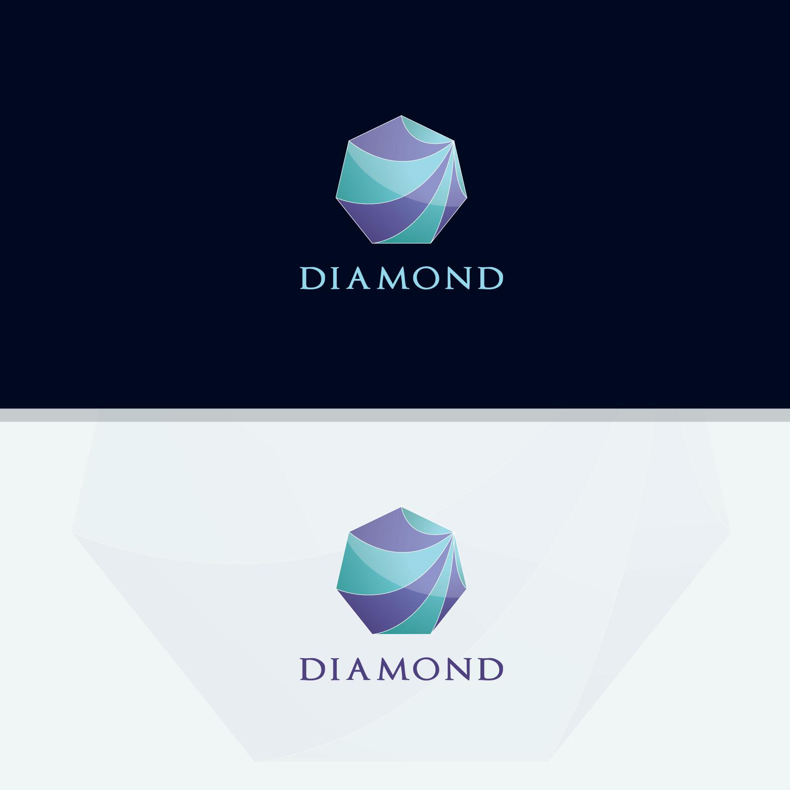 Diamond vector logos collection example image 5