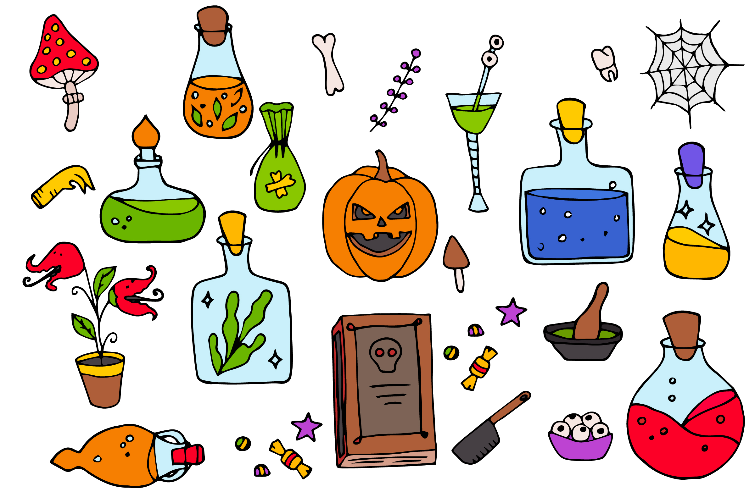 Halloween collection. Patterns, Elements, Posters example image 3