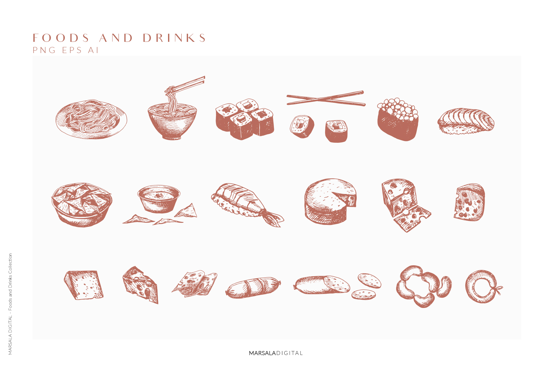 Foods & Drinks Logo Elements Handrawn Graphics example image 6