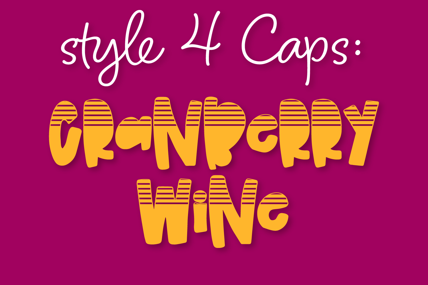 Cranberry Wine - A Striped Font Family of 6 New Fonts! example image 6