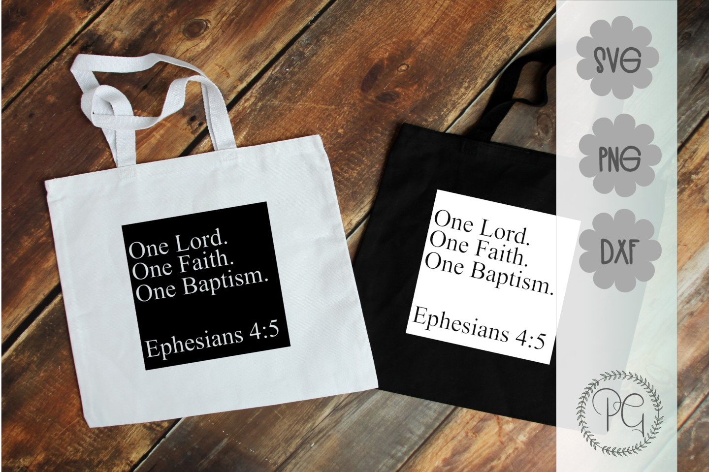 One Lord One Faith One Baptism SVG DXF PNG example image 3