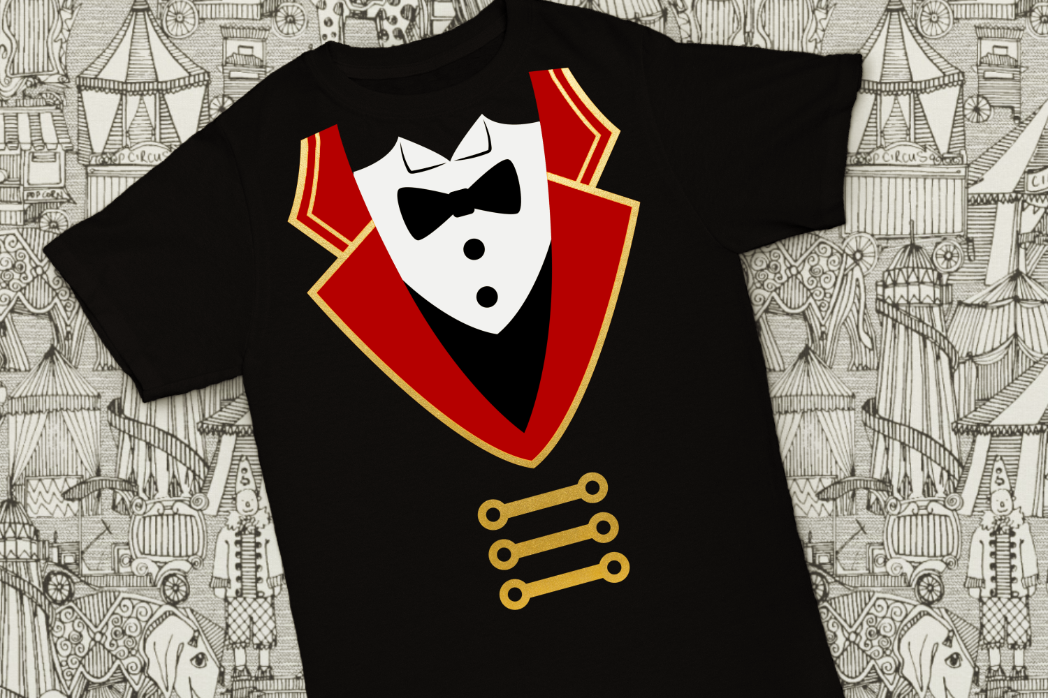Circus Ringmaster Coat and Tuxedo SVG File Cutting Template example image 2