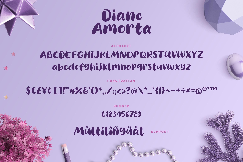 Diane Amorta - Cute Font example image 6