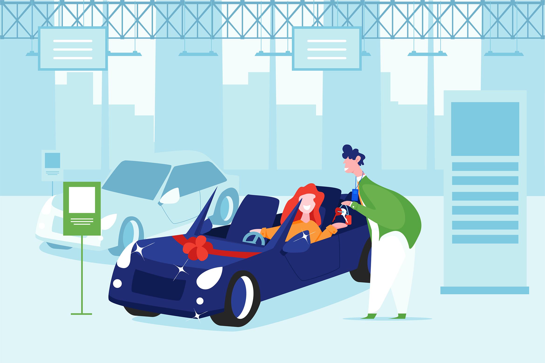 Car Dealership Vector Illustration Pack example image 3