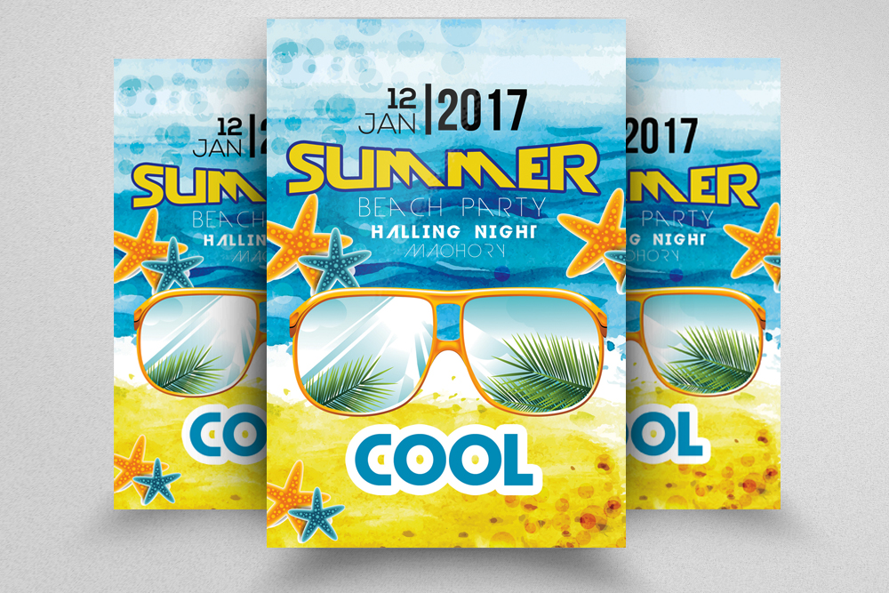 10 Summer Beach Party Flyers Bundle example image 2