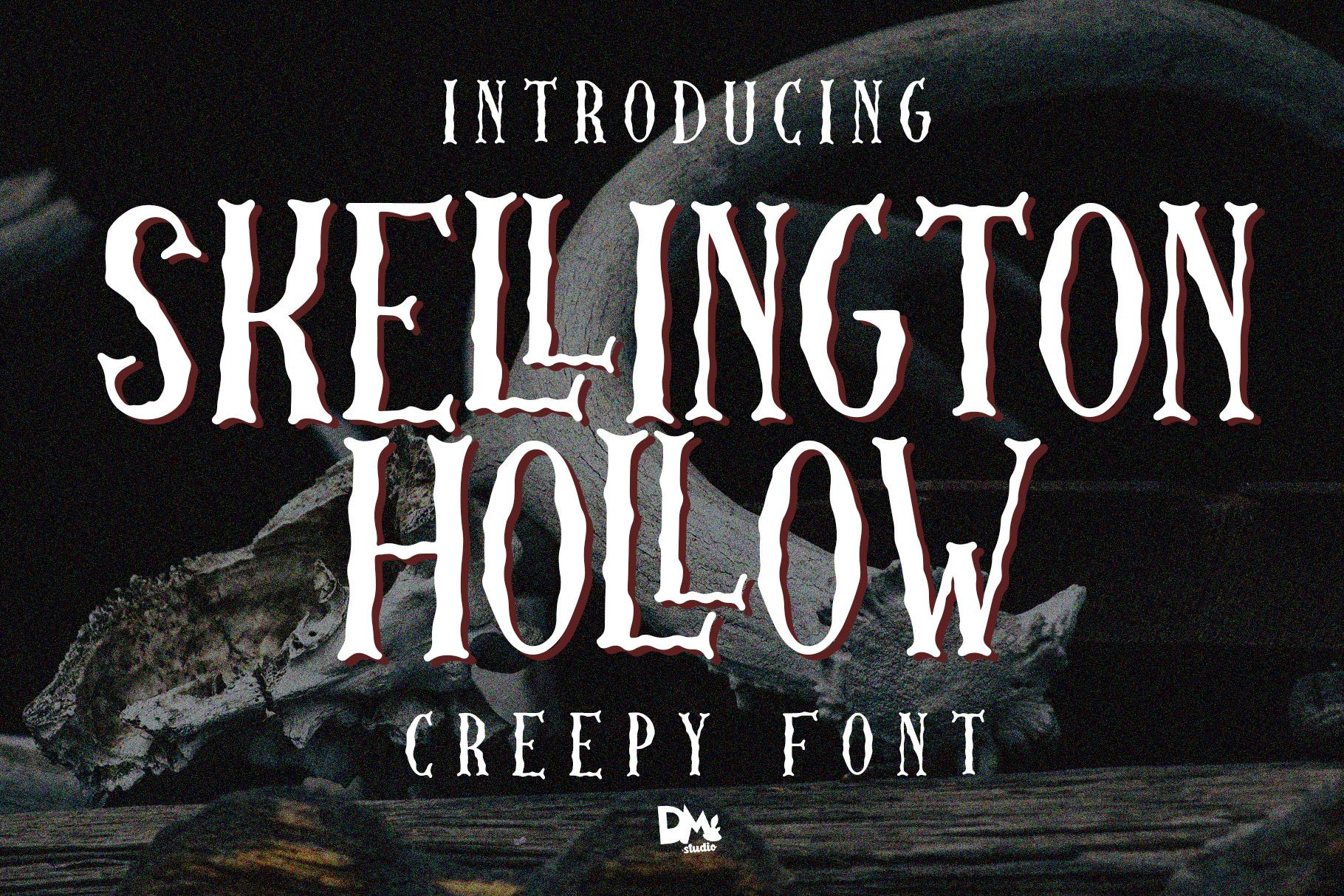 Skellington Hollow - Creepy Font example image 1