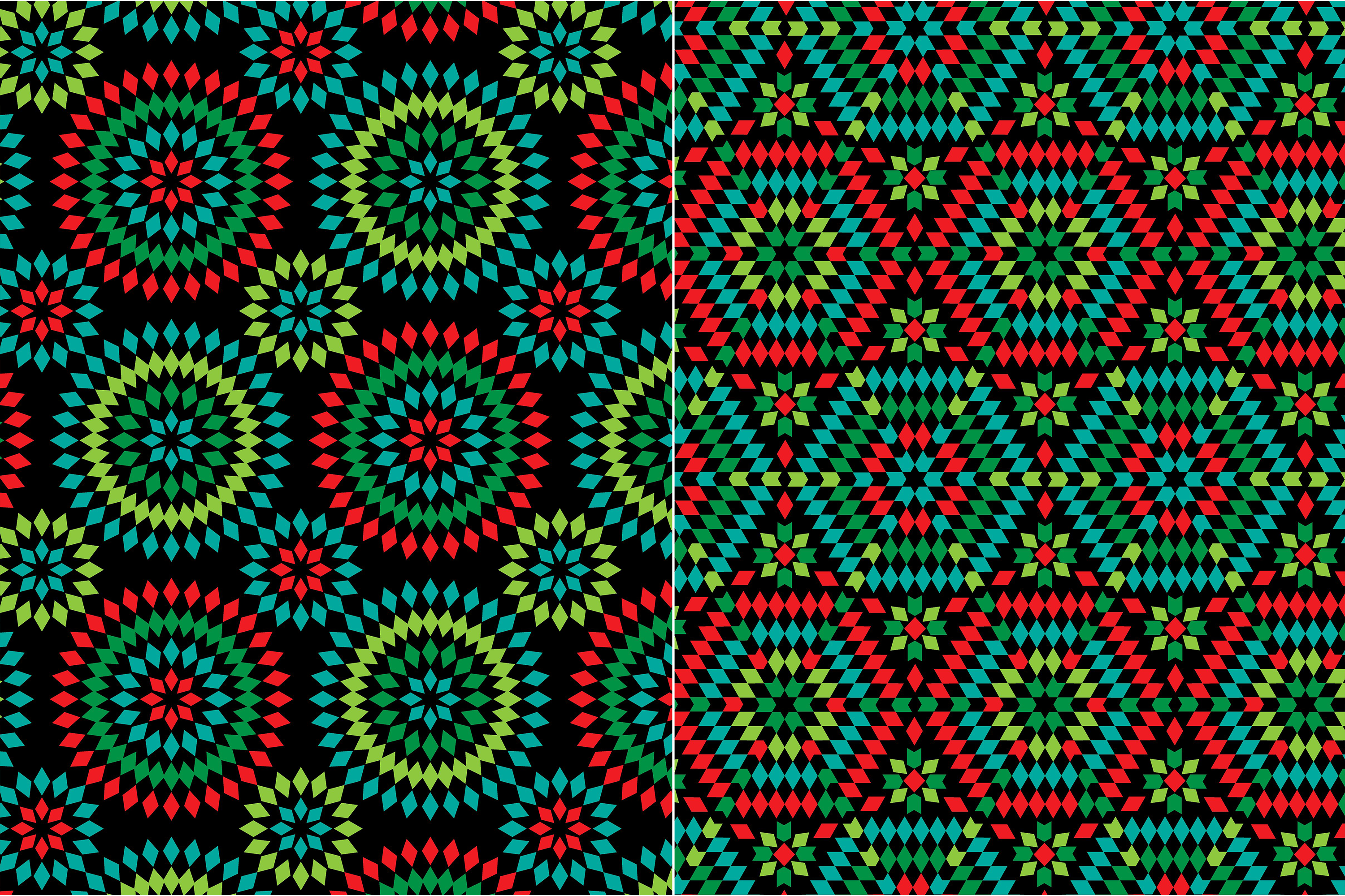 Granny Square Patterns on Black example image 3