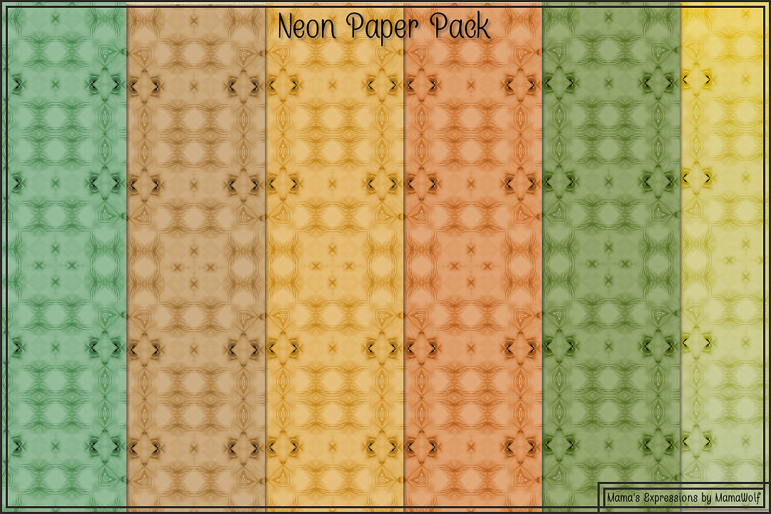 Neon Paper Pack example image 6