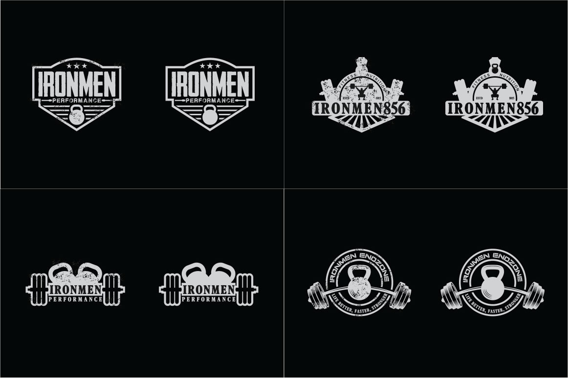 83 fitness gym bundle Logos Labels & Badges example image 12