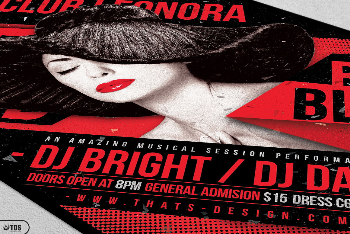 Black and Red Party Flyer Template V1 example image 5