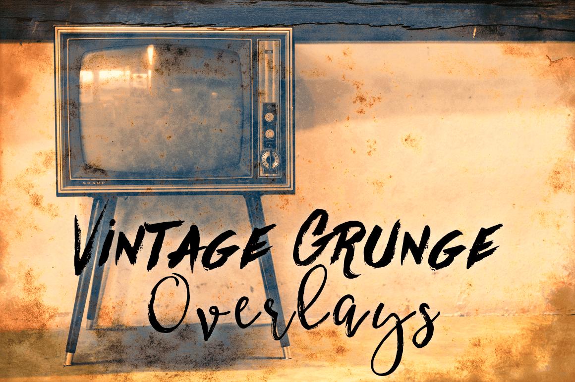 Grunge Textures - Vintage Grunge Transparent Textures example image 1