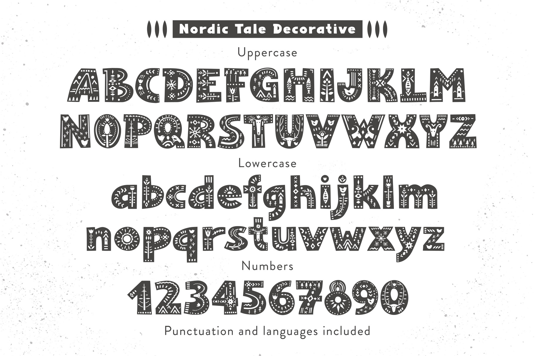 Nordic Tale - Folkart Font Family example image 4
