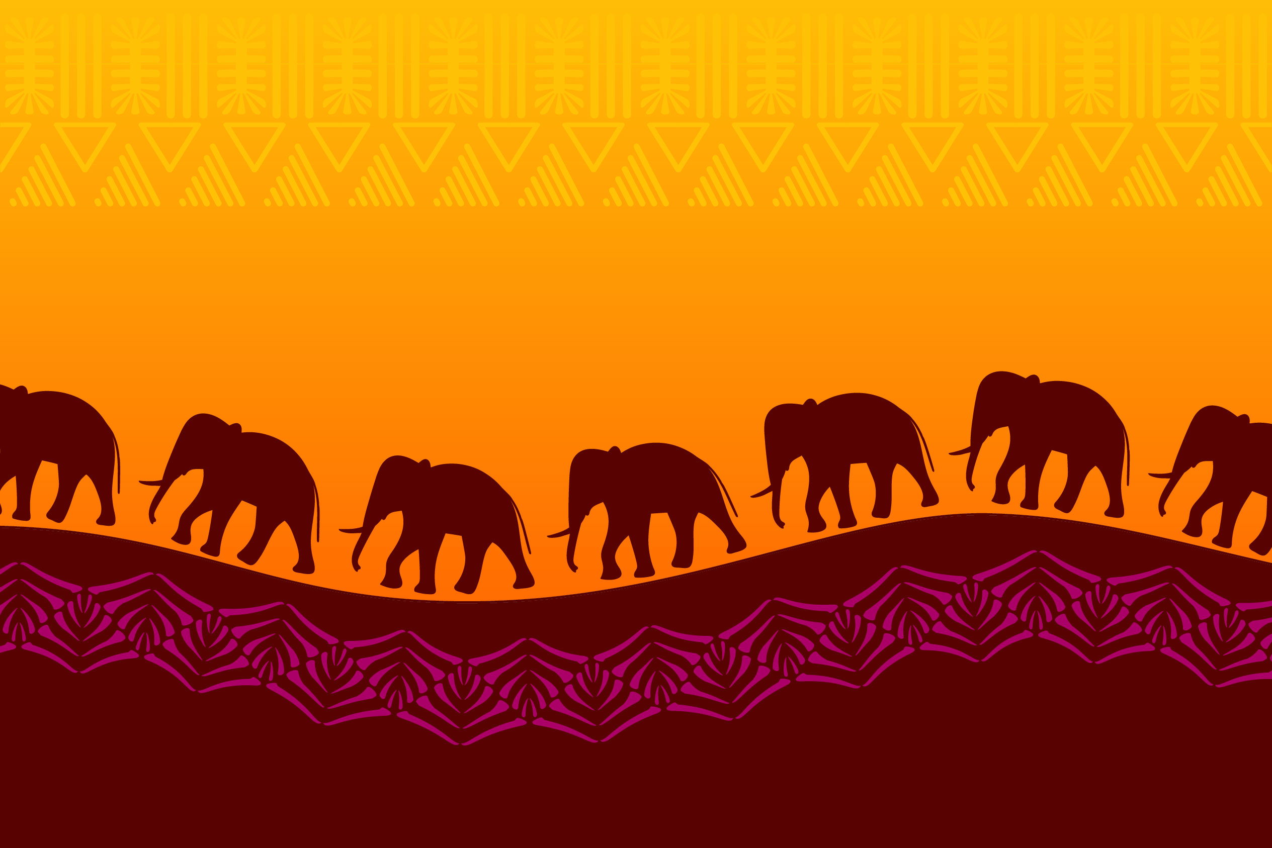 Africa Pattern Brushes for Illustrator example image 5