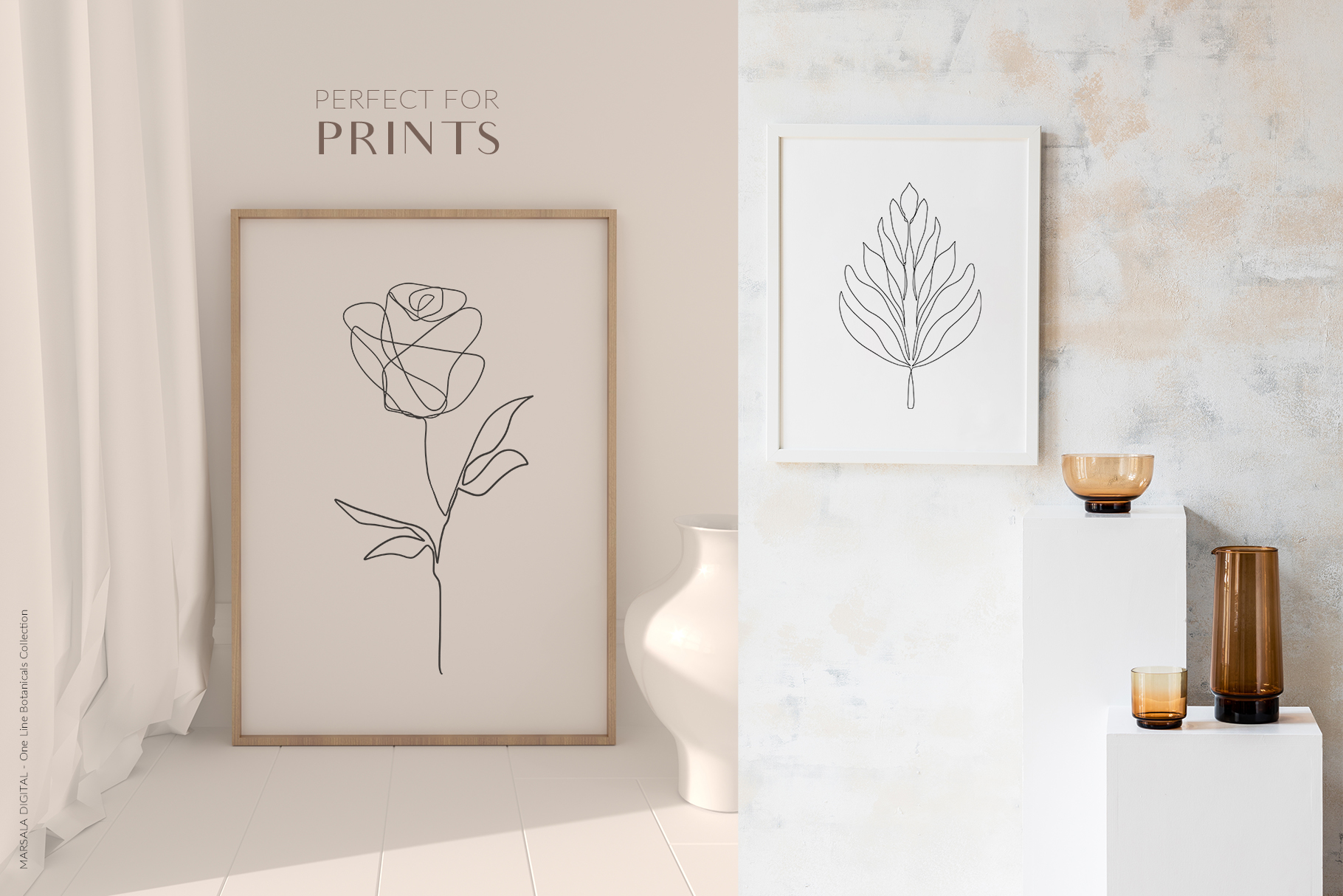 One Line Botanical Drawings Line Art Graphics example image 9