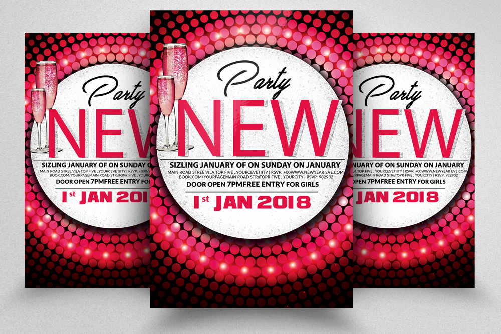 New Year Bash Flyer 2 layouts example image 1