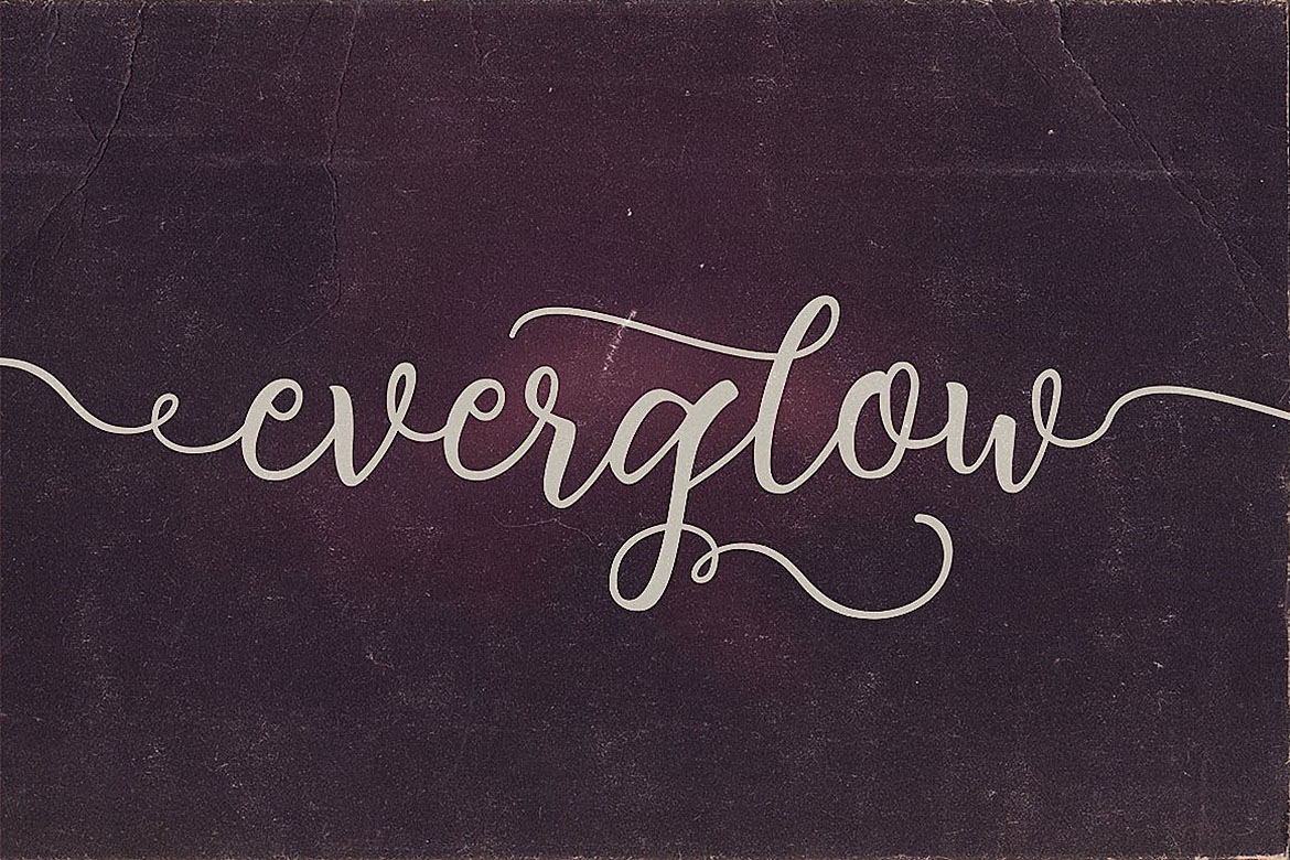 Everglow Script Font Duo example image 4