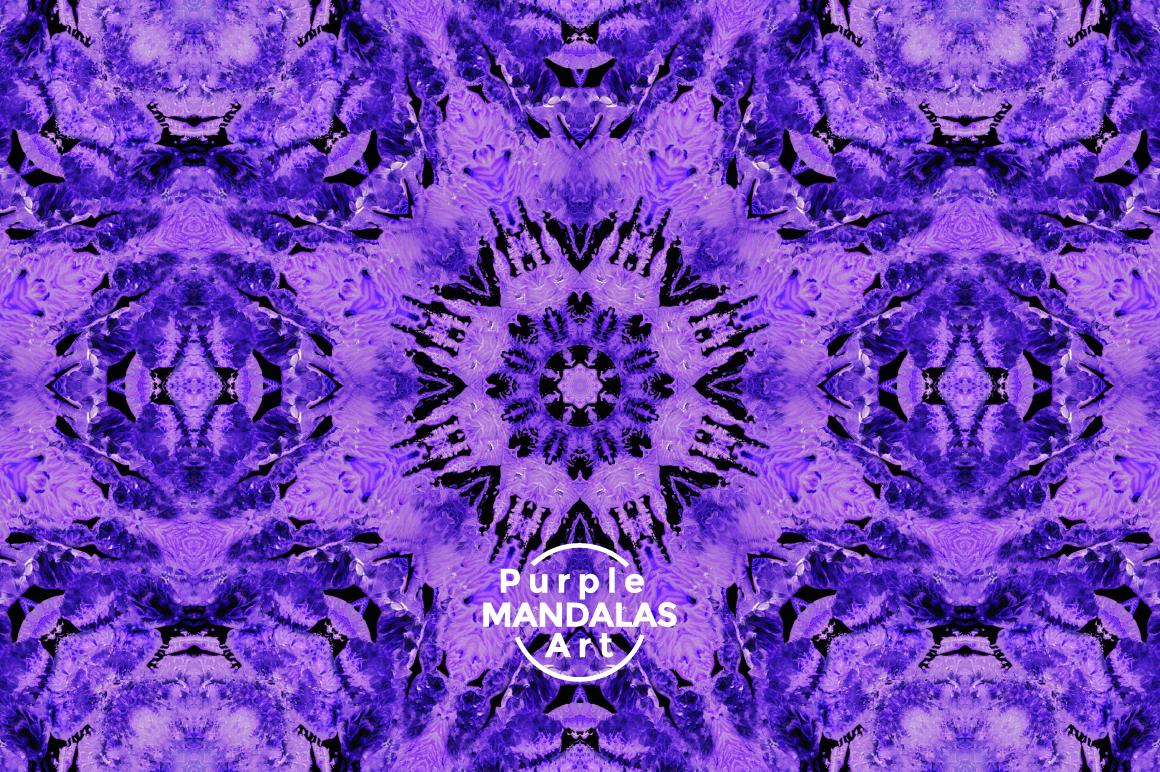 Purple MANDALAS Art example image 7