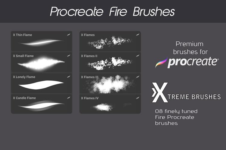 Procreate Fire Brushes! example image 2
