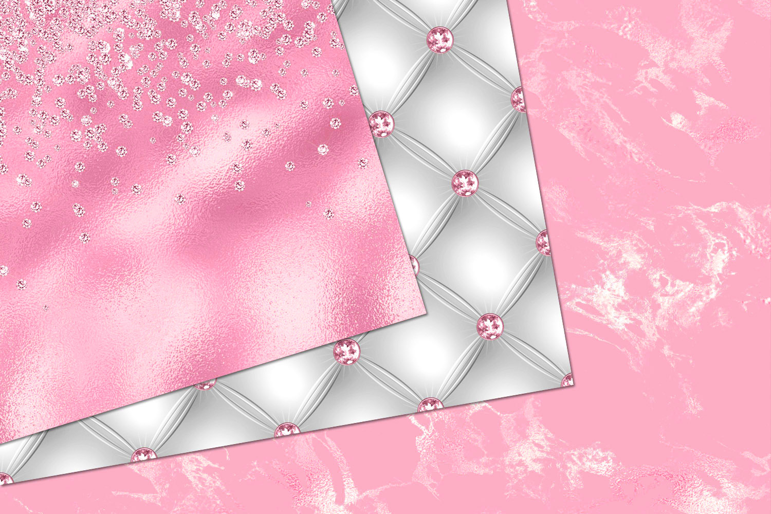 Glitzy Pink Digital Paper example image 4