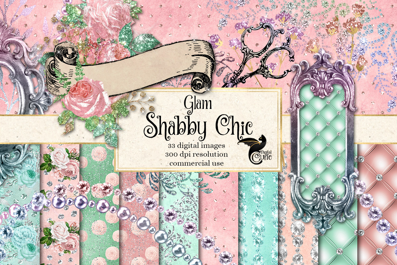 Glam Shabby Chic Digital Scrapbooking Kit example image 1