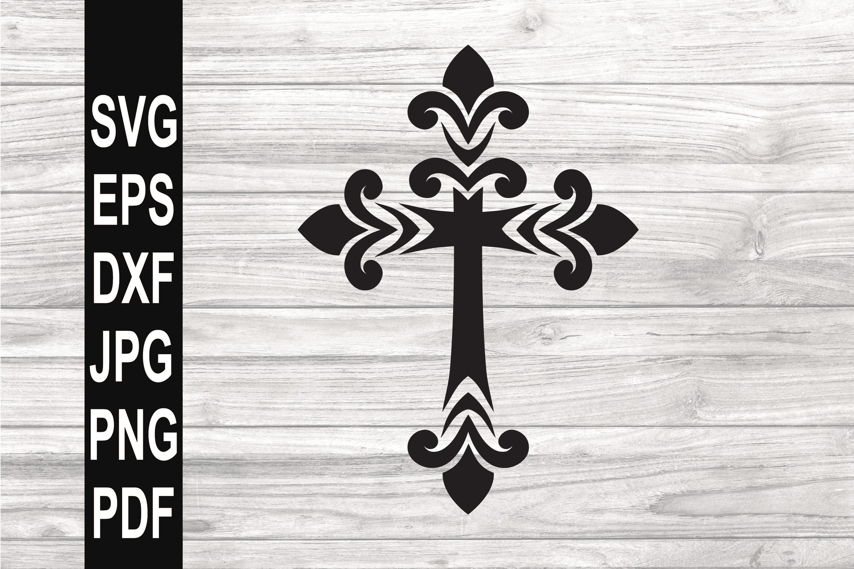 Cross SVG | Filigree cross SVG example image 1