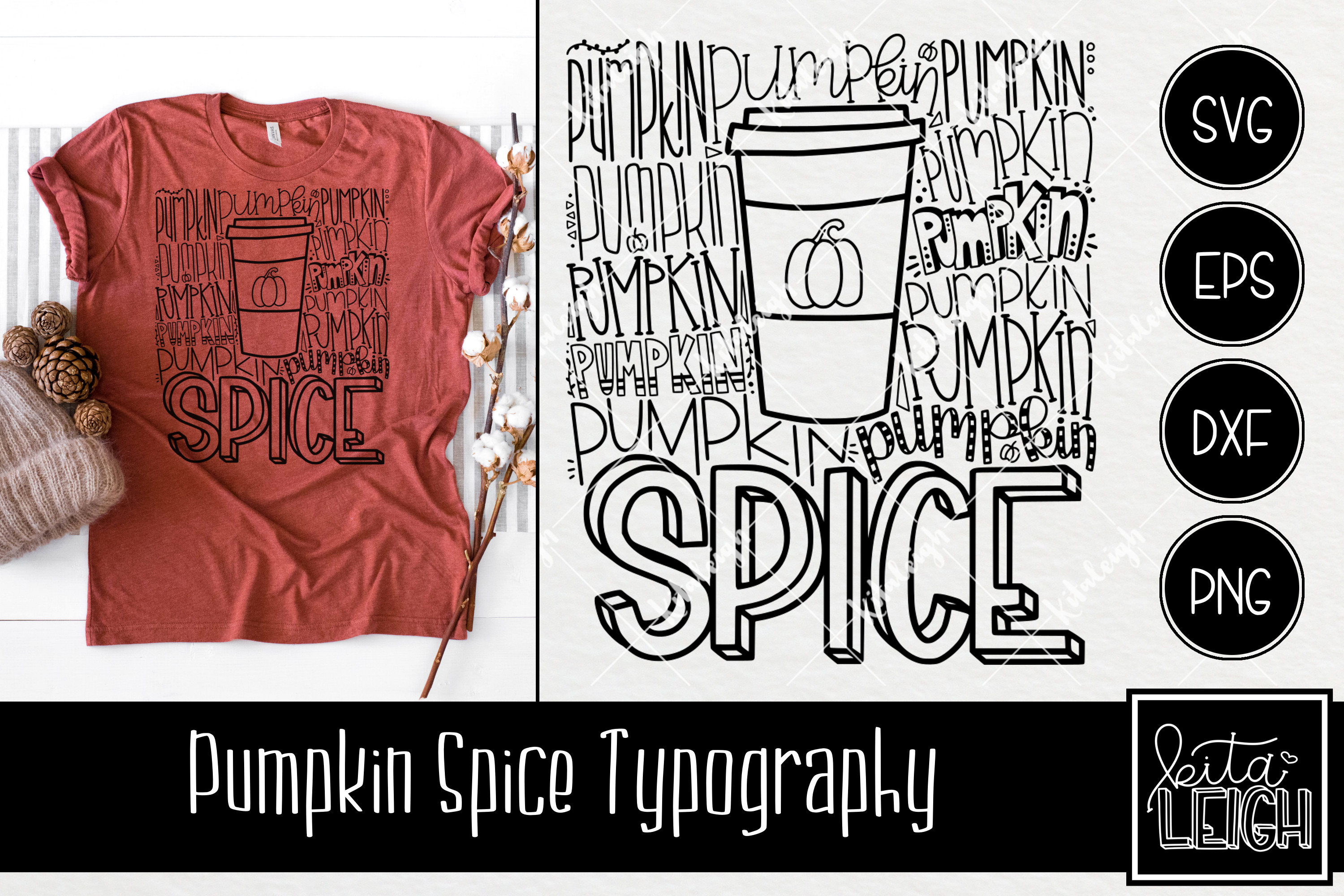 Pumpkin Spice Typography example image 1