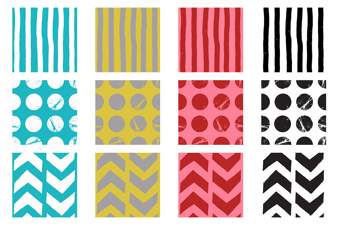 Chevrons, Dots + Stripes Paper Pack example image 2