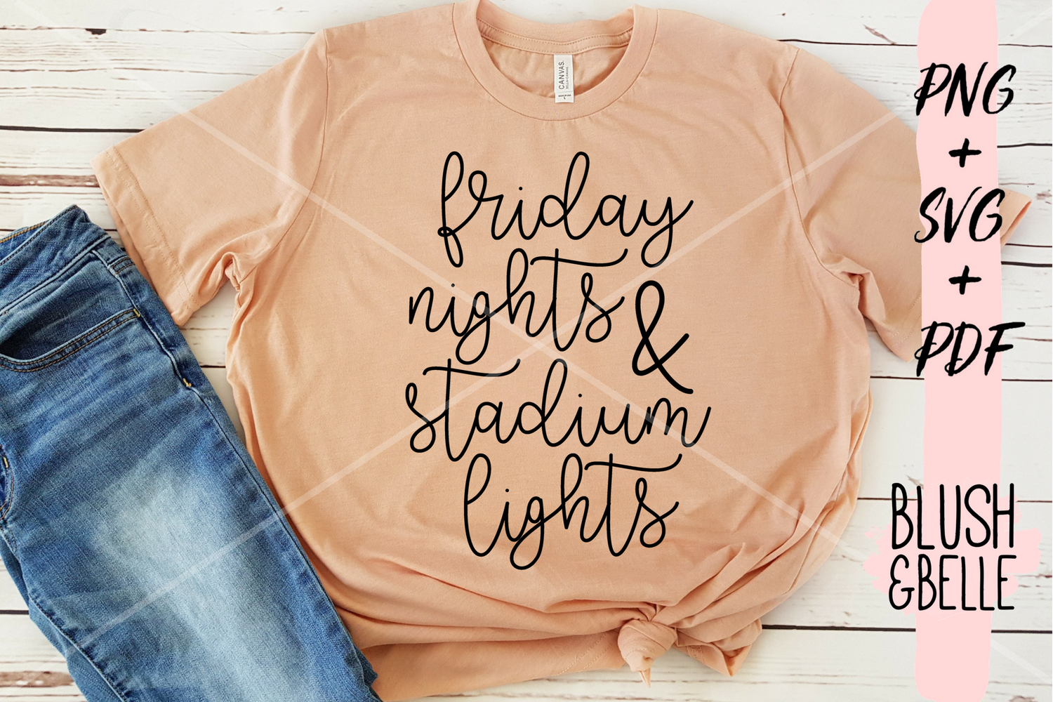 Friday Nights & Stadium Lights - PNG, SVG, PDF example image 3