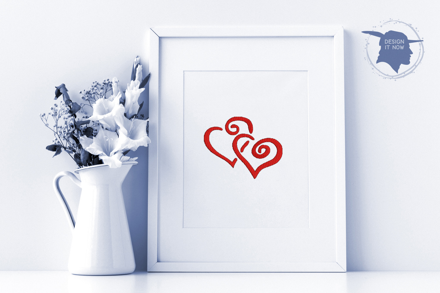 Heart Embroidery Design, Love Embroidery Pattern example image 3