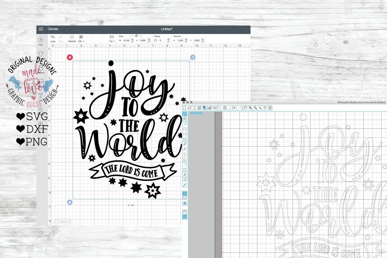 Joy to the World - Christmas Cut File example image 2