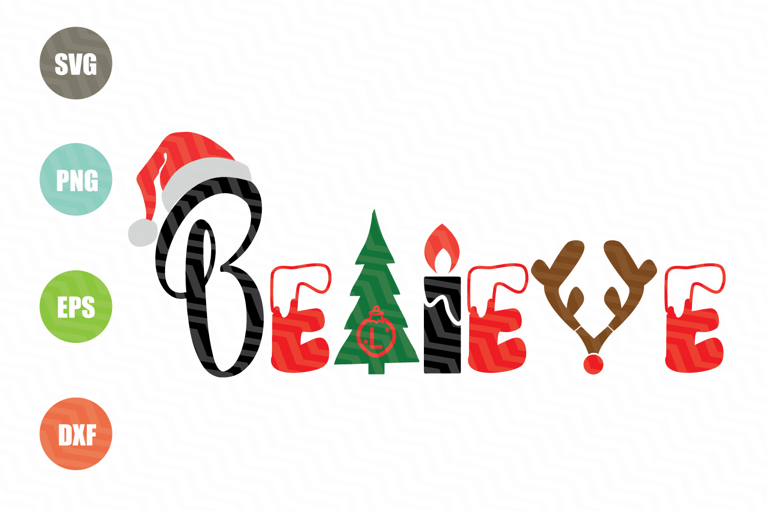 Believe Christmas SVG example image 1