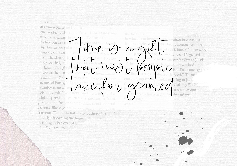 Timeless - Handwritten Script Font example image 8
