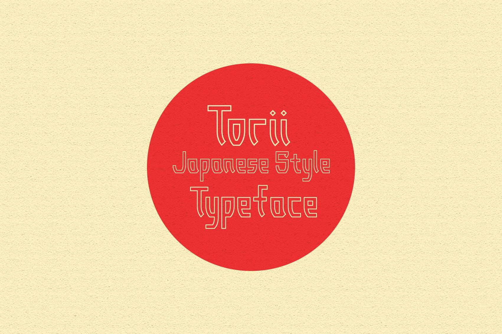 Torii - Japanese Style Typeface example image 2