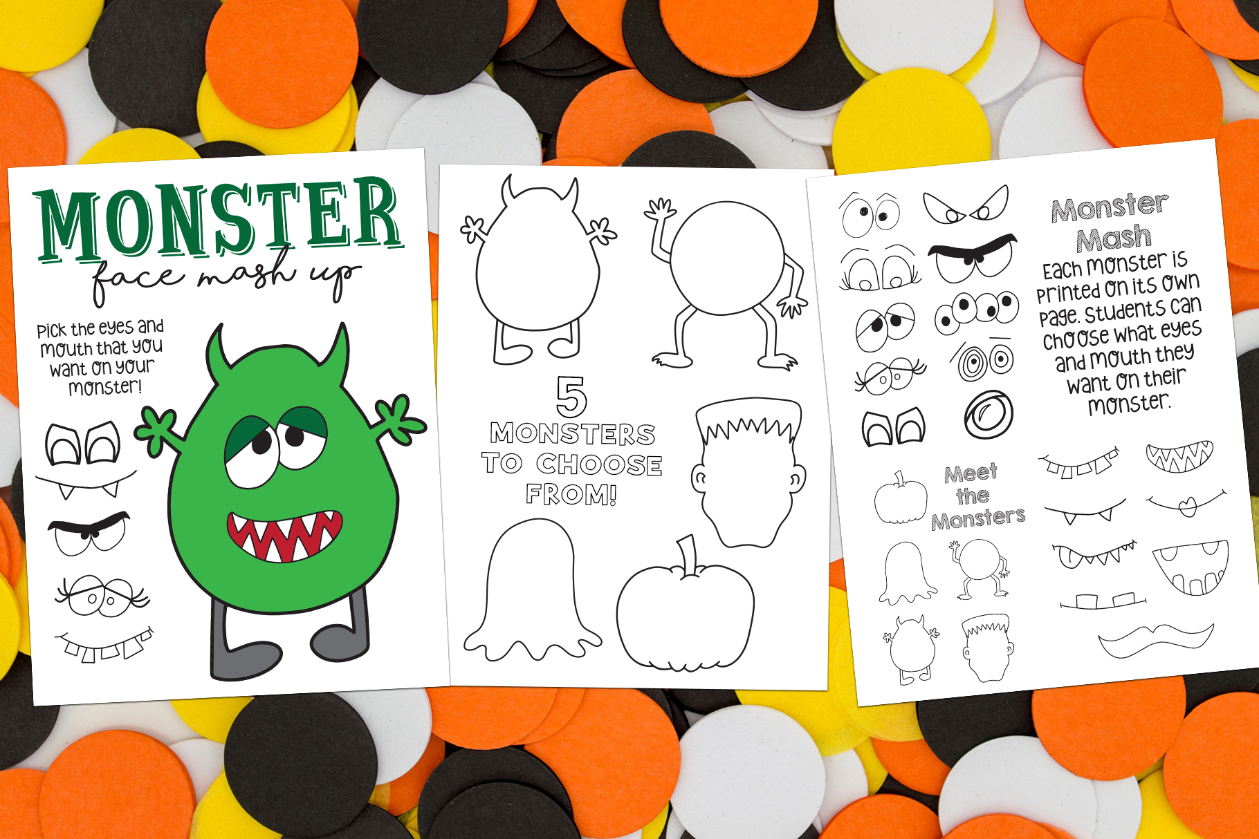 Halloween Coloring Pages & Activity example image 4