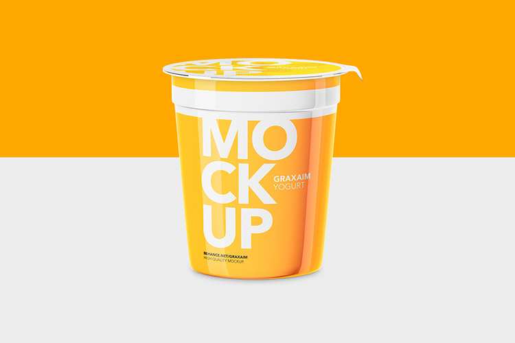 Yogurt Cup - High Angle - Mockup example image 1