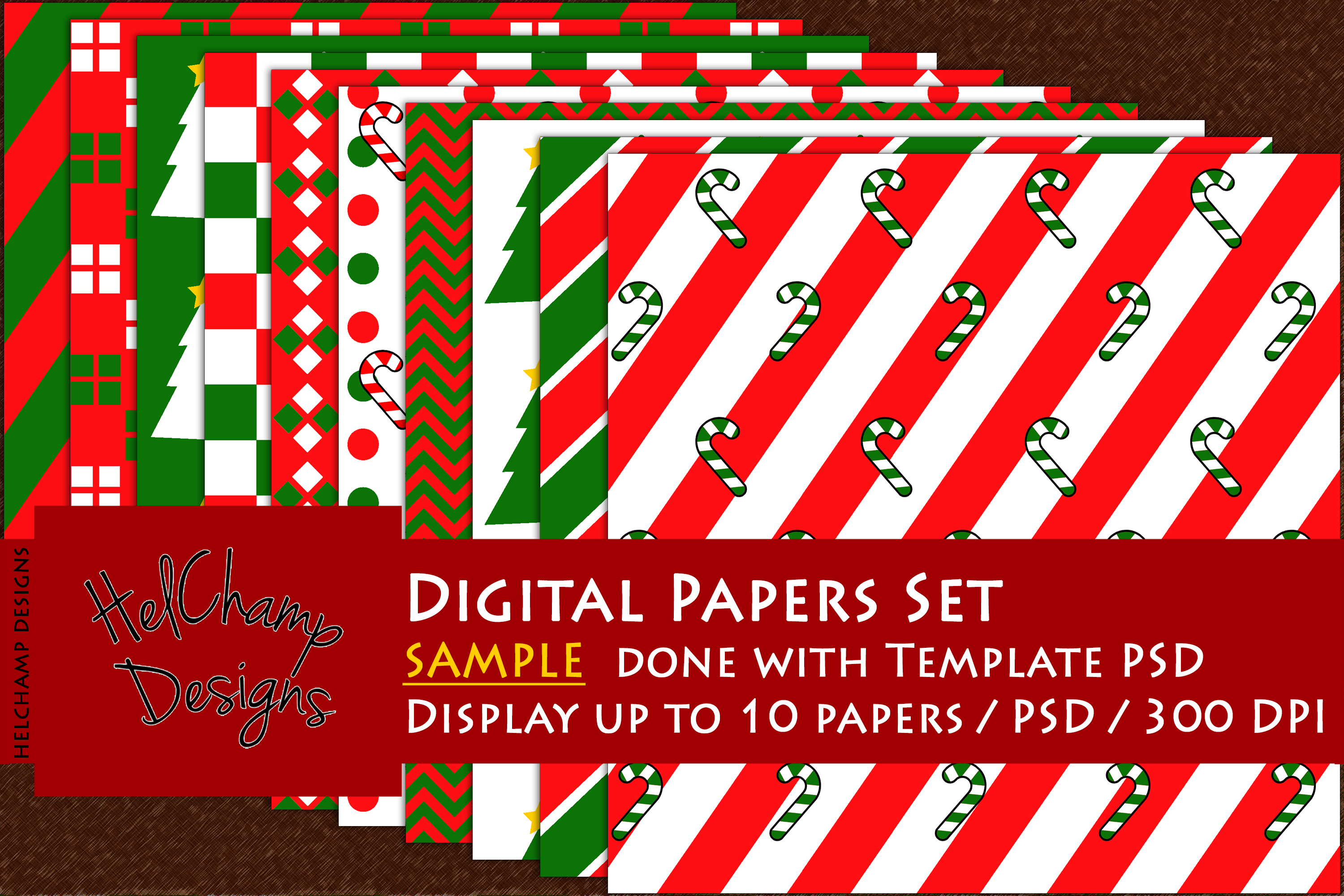 1 to 10 Panels Mockup for Digital Papers - M04 example image 4